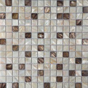 крема микс скуаре перламутр мозаика 9