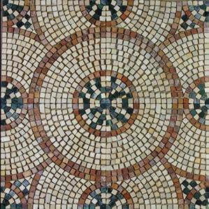 розетка бежевого розового шлифованного мраморная мозаика