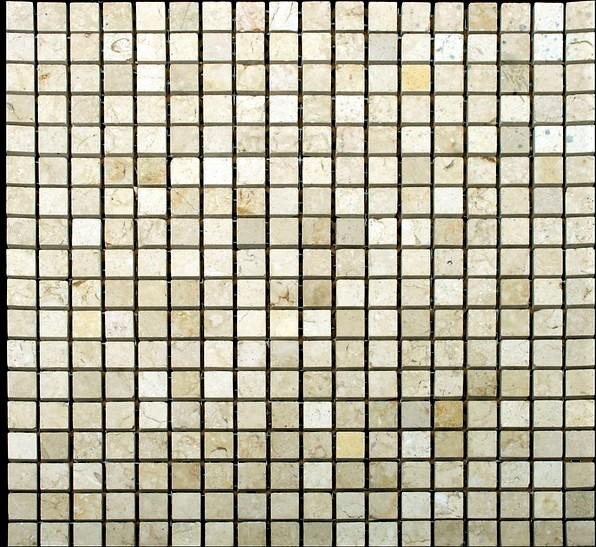 бежевая полированная мраморная мозаика