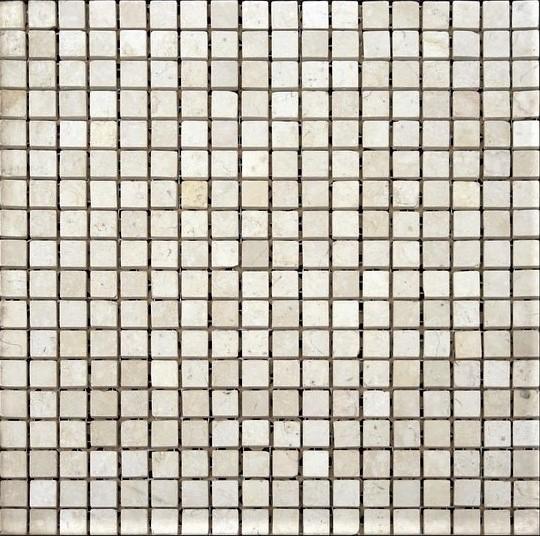 бежевая шлифованная мраморная мозаика
