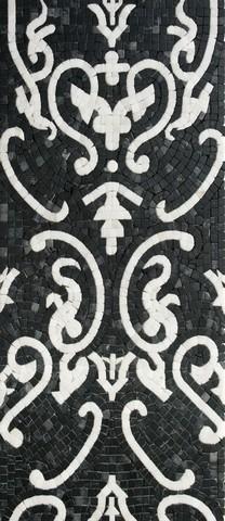 дамаско черно-белый мраморное панно