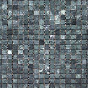 зеленая шлифованная мраморная мозаика