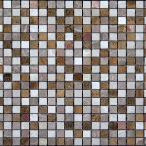 микс желтое дерево розовая бежевая полированная мраморная мозаика