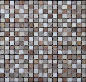 микс желтое дерево розовая бежевая шлифованная мраморная мозаика (2)
