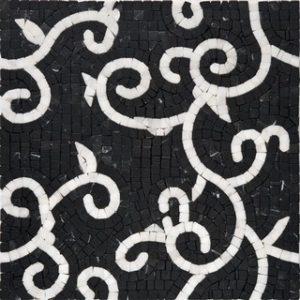 ренасанс черно-белая мраморное панно