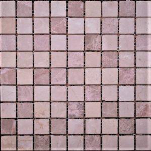 розовая бежевая шлифованная мраморная мозаика