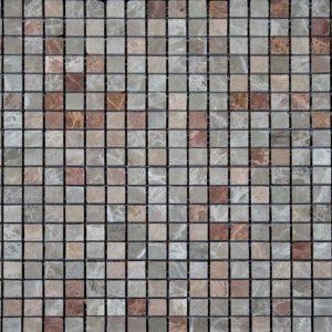 розовая полированная мраморная мозаика