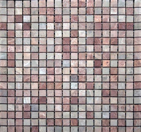 розовая шлифованная мраморная мозаика