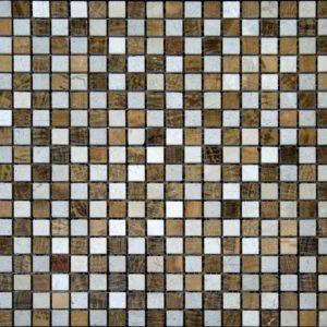 щахматка желтое дерево бежевая полированная мраморная мозаика