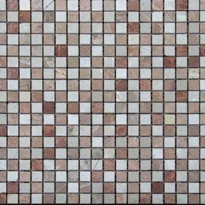 щахматка розовая бежевая полированная мраморная мозаика